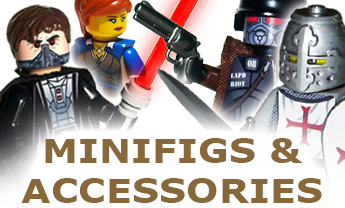 Minifigs, Stickers, Weapons, and Accessories