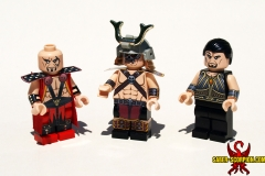 Daegon, Shao Kahn, and Taven
