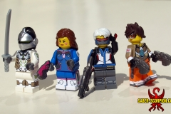 LEGO Overwatch: Genji, D.Va, Soldier:76, and Tracer