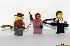 TF2 Sniper, Spy, and Medic