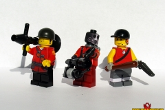TF2 Soldier, Pyro, and Scout
