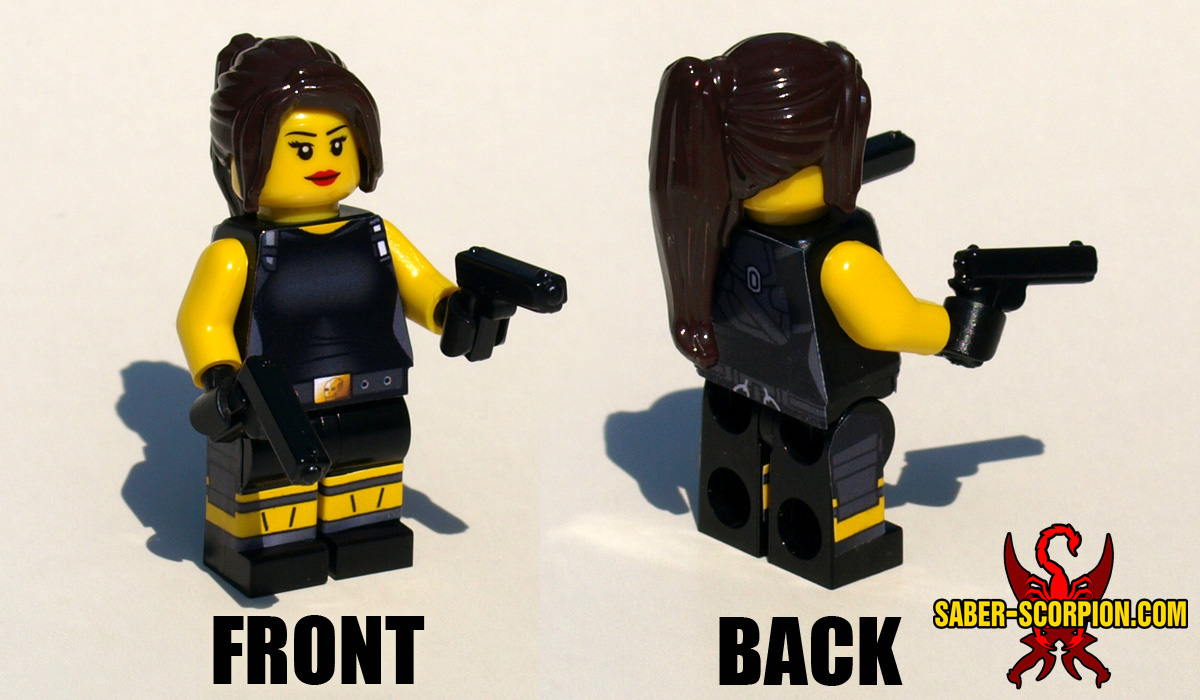 Minifigure: Female Adventurer Black