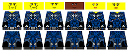 Sci-Fi Minifigure Stickers