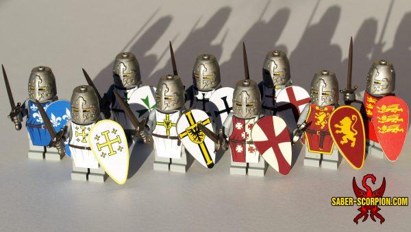 LEGO Crusader Knight Custom Minifigures - Deus Vult!