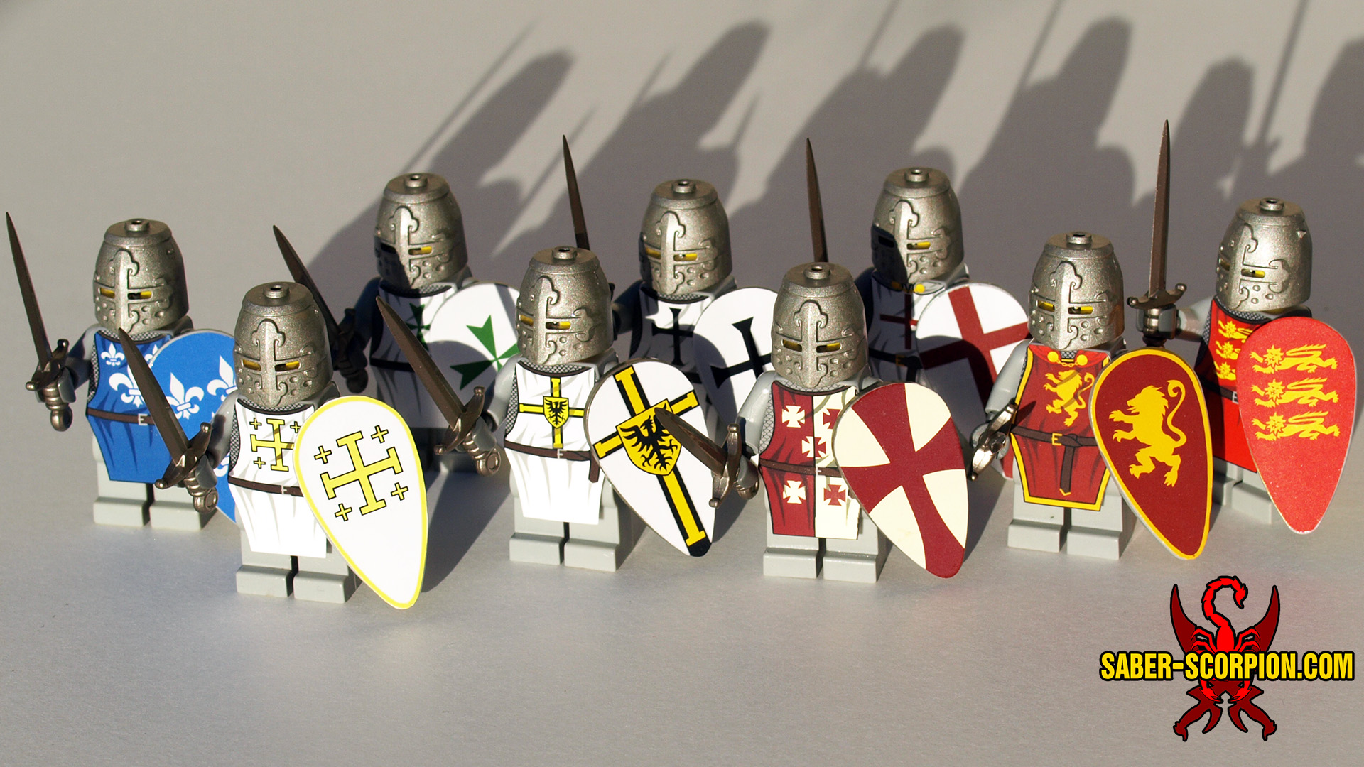 Minifig: Historic Medieval Knight (NEW designs available!)