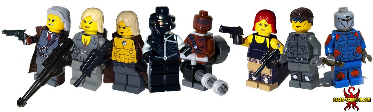 Custom LEGO Minifigure: Espionage Series 1
