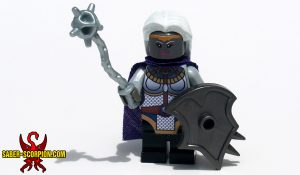Custom LEGO Minifigure: Dark Elf Cleric