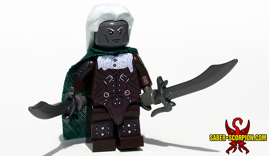 Custom LEGO Minifigure: Dark Elf Ranger