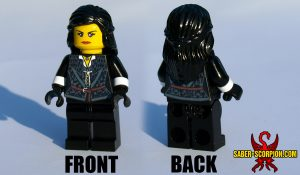 Custom LEGO Minifigure: Fantasy Dark Witch