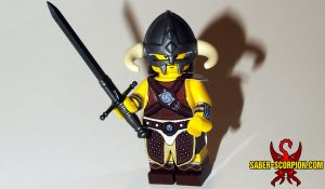Fantasy Dragonborn Hero LEGO Minifigure