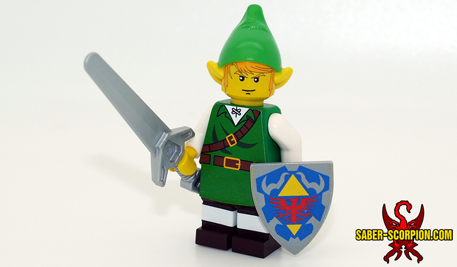 Custom LEGO Minifigure: Fantasy Elf Hero