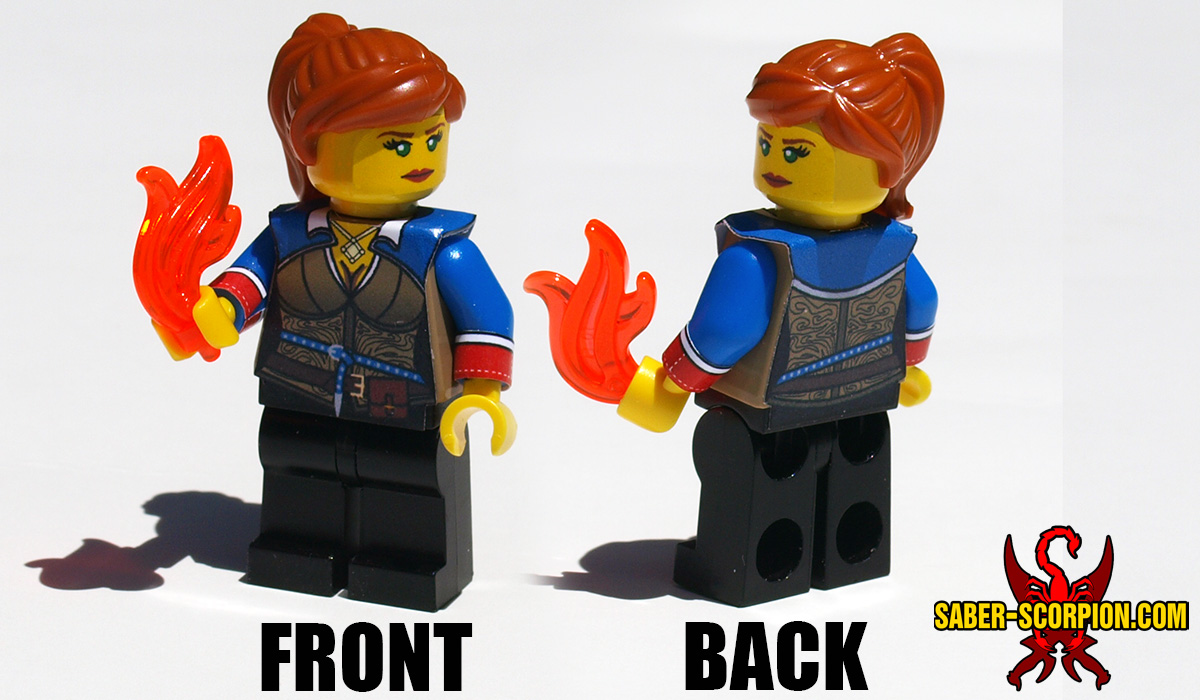 Custom LEGO Minifigure: Fantasy Fire Witch