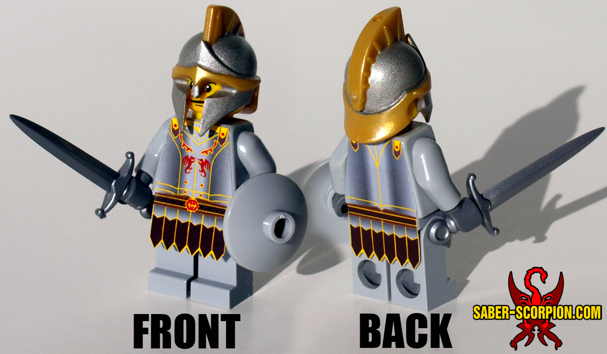 Custom LEGO Minifigure: Fantasy Guard Captain