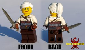 Custom LEGO Minifigure: Fantasy Female Monster Hunter