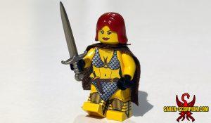Custom LEGO Minifigure: Chainmail Bikini Redhead