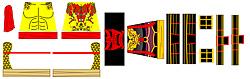 Custom LEGO Minifig Decals: Orient Monk Duel