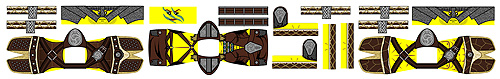 Custom LEGO Minifig Decals: Fantasy Elder Series Dragonborn Hero