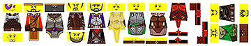 Custom LEGO Minifig Decals: Fantasy Heroes