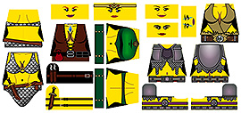 Custom LEGO Minifig Decals: Fantasy Skimpy Female Armor