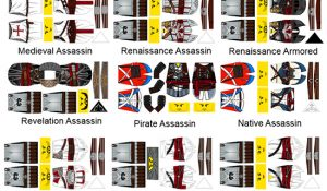Historic Assassin Custom LEGO Minifigure Stickers