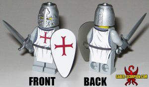 Custom LEGO Minifigure: Medieval Crusader Knight