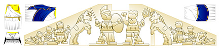 Custom LEGO Minifig Decals: Historic Greek & Roman