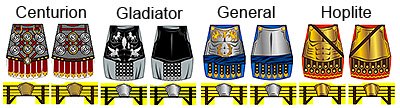 Custom LEGO Minifig Decals: Historic Greek & Roman Armor