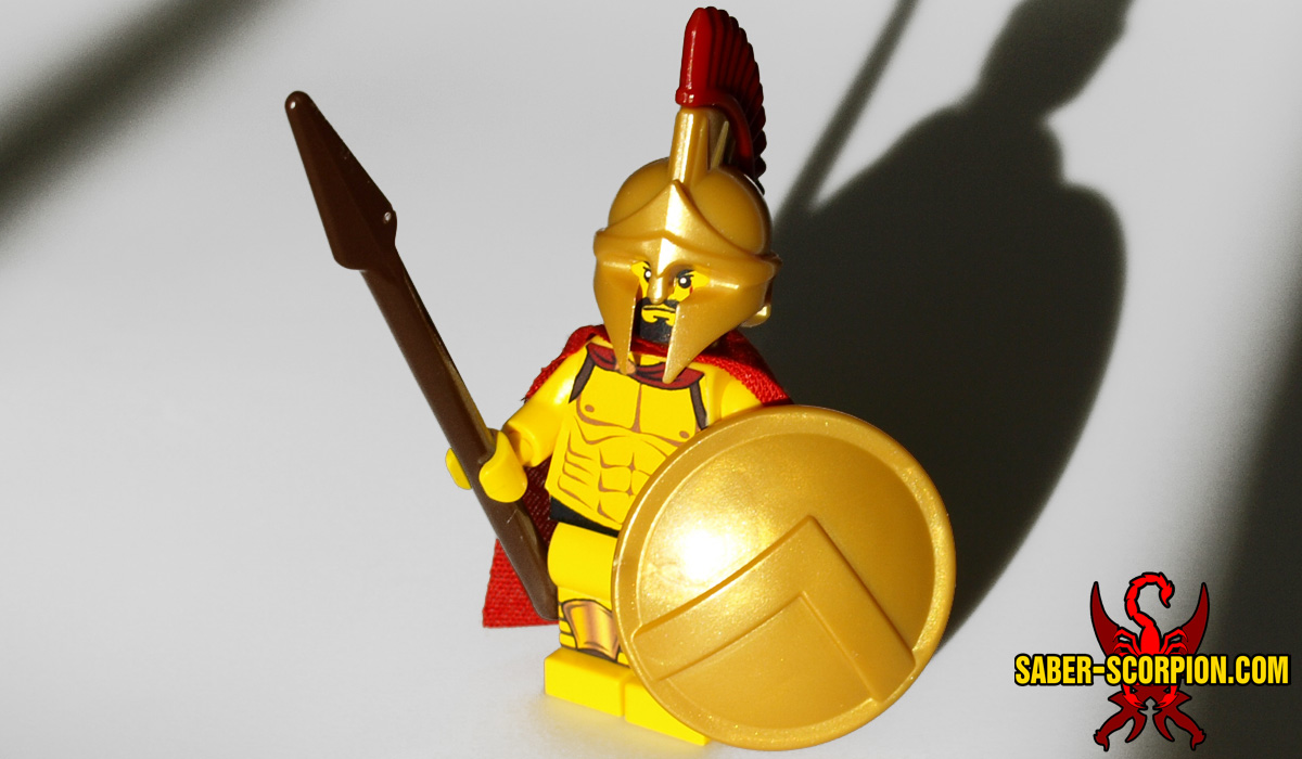 Custom LEGO Minifigure: Greek Spartan Hoplite