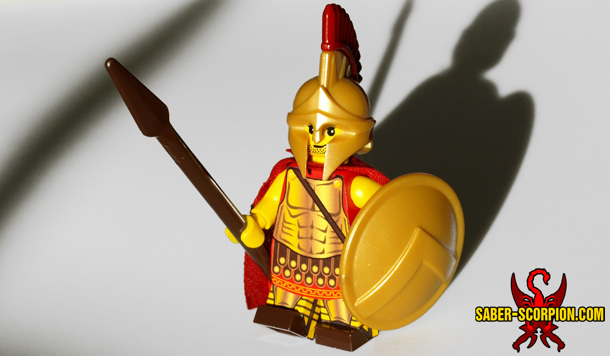 Custom LEGO Minifigure: Greek Spartan Hoplite