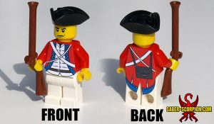 Custom LEGO Minifigure: Revolutionary Redcoat Soldier
