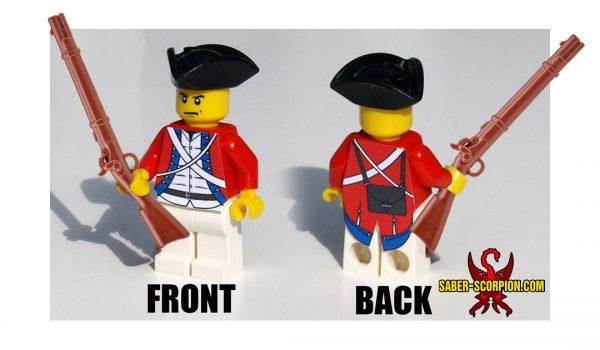 Revolutionary War LEGO Minifig Soldier Redcoat