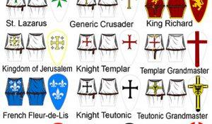 Crusader Knight Tabard & Shield Minifigure Stickers