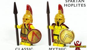 Custom LEGO Greek Spartan Hoplite Minifigure