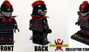 Custom LEGO Minifigure: Saber-Scorpion Enomeg