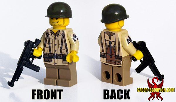 Custom LEGO Minifigure: WW2 American Soldiers