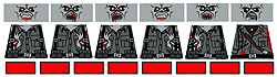 Custom LEGO Minifig Decals: WW2 German Zombies