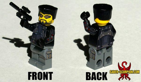 Custom LEGO Minifigure: Cyberpunk Agent