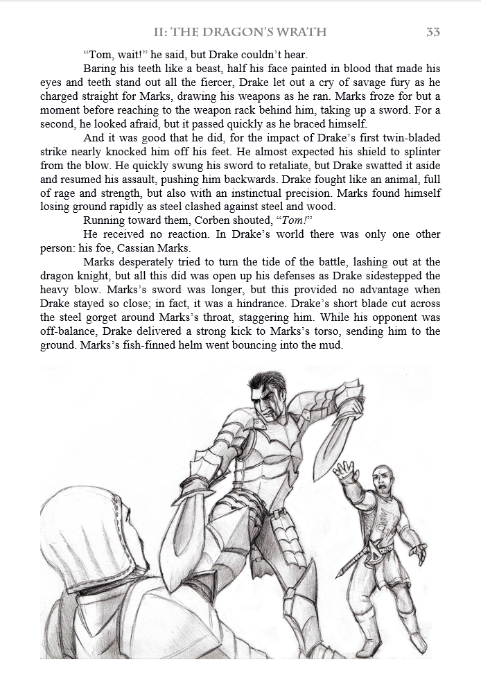 Wulfgard: Knightfall sample page