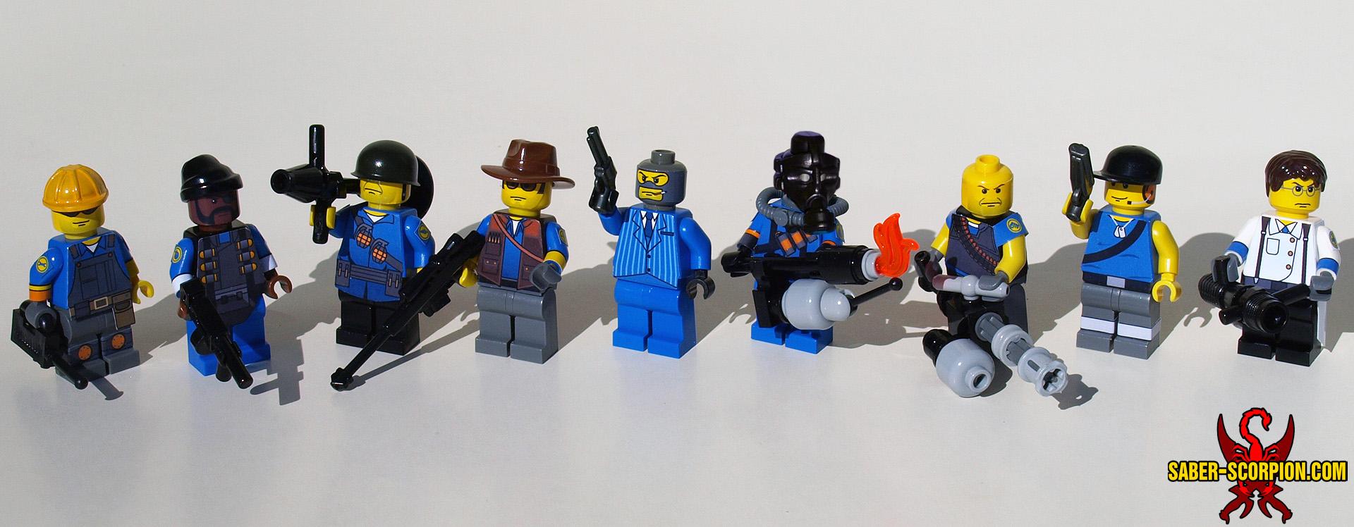 Custom LEGO Minifigure: Merc Team: Fortress Defense