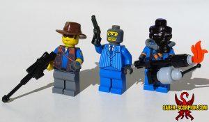 Custom LEGO Minifigure: Merc Sniper, Spy, Pyro