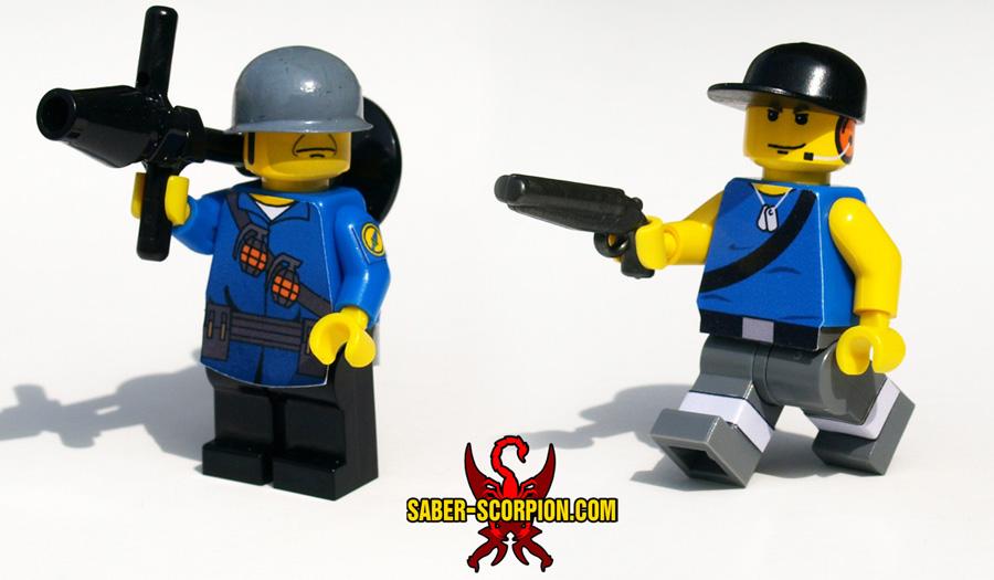 Custom LEGO Minifigure: Merc Soldier & Scout