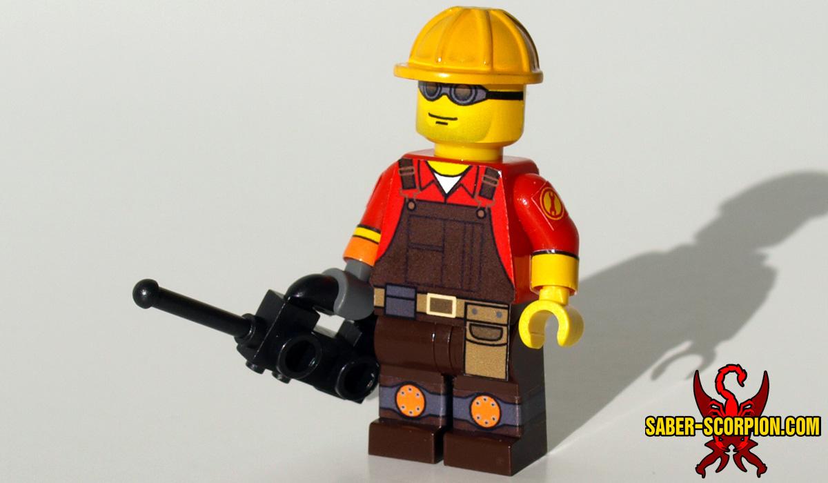 Custom LEGO Minifigure: Technician Merc