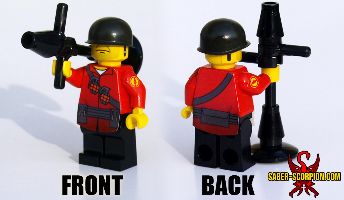 Custom LEGO Minifigure: Merc Soldier