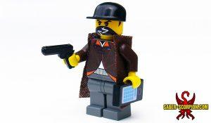 Custom LEGO Minifigure: Cyberpunk Hacker