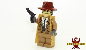Custom LEGO Minifigure: Post-Nuclear Fallout Android Detective