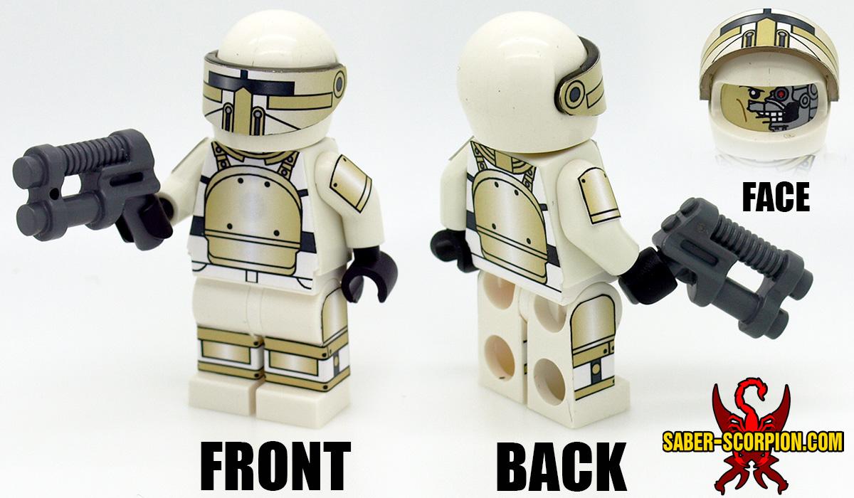 Custom LEGO Minifigure: Post-Nuclear Fallout Android