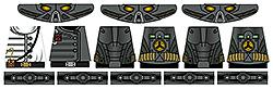 Custom LEGO Minifig Decals: Post-Nuclear Fallout Power Armor