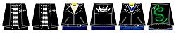 Custom LEGO Minifig Decals: Leather Jackets