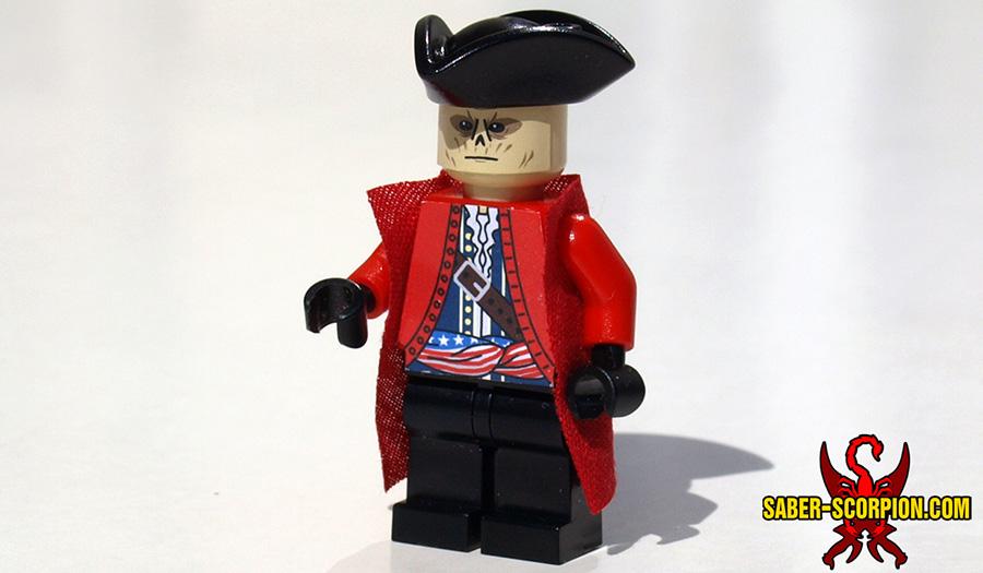 Custom LEGO Minifigure: Post-Nuclear Fallout Patriot