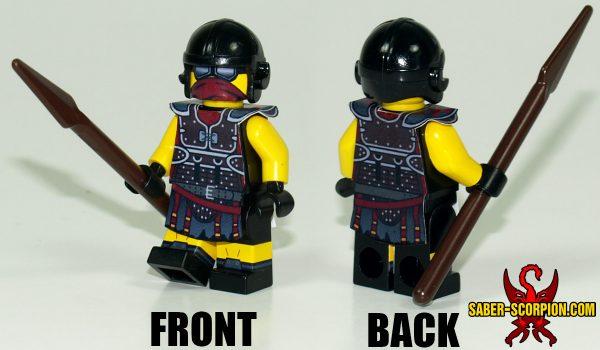 Custom LEGO Minifigure: Post-Nuclear Fallout Legion
